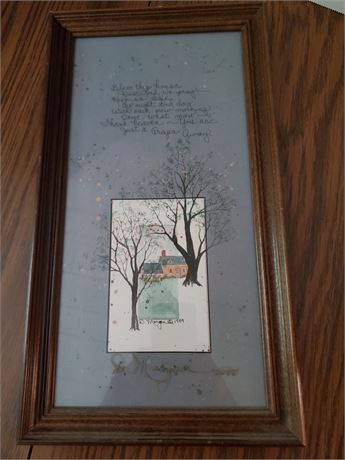 Lovely Signed Painting D. Morgan