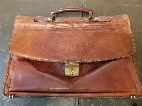 Vintage Italimpianti Leather Briefcase
