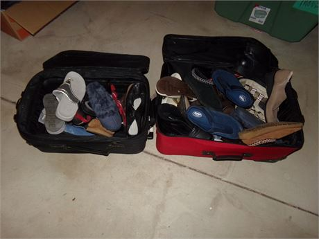 Shoes in luggage lot