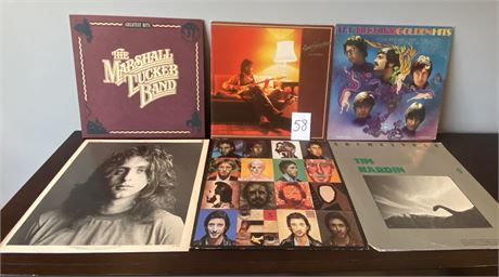 Vintage Vinyl Records Including The Who, Eric Clapton, Marshall Tucker and More
