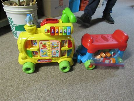 Toddler Sit-to-Stand Alphabet Train