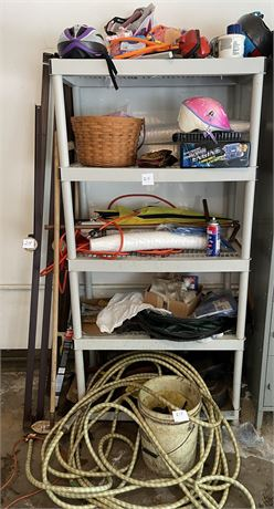 Large Longaberger Basket and SOOO Much More in Huge Garage Shelf Clean Out