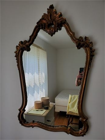 Lovely Gold Gilt Decorator Mirror