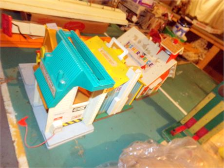 Fisher Price Toys- Lift & Load Depot, Schoolhouse, and House