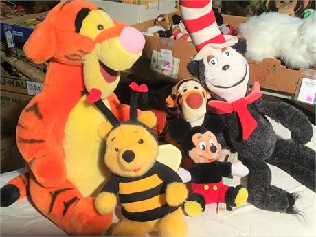 Disney Character and Dr. Seuss Plush Animals