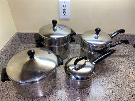 Farberware Aluminum Clad Cookware Set and More