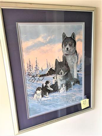 Signed Framed Iditarod Poster