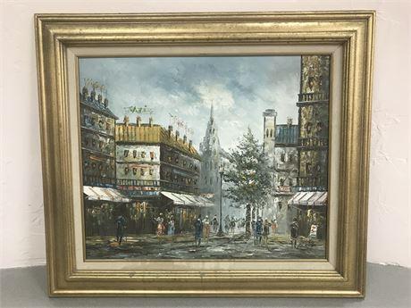 Framed Original Caroline C Burnett (1877-1950) Oil on Canvas Painting