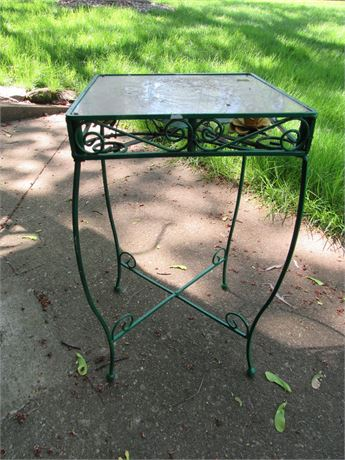 Wrought Iron Patio Table - Unusual
