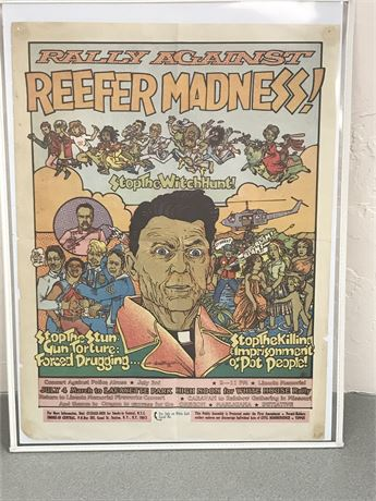 """Dana Franzen """"Reefer Madness"""" Poster"""