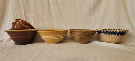 6 Stoneware Mixing Bowls