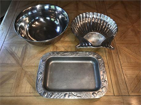 Metal Kitchenware including Wilton Armatale, and Mikasa