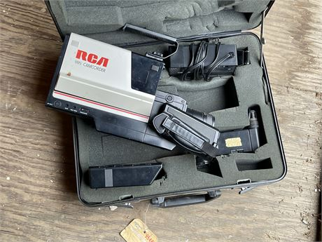 RCA VHS Camcorder with 2 Batteries and Case