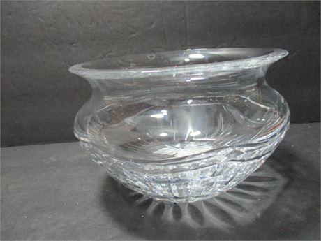 "Premium 6"" Fancy Waterford Fine Crystal Glass Bowl"