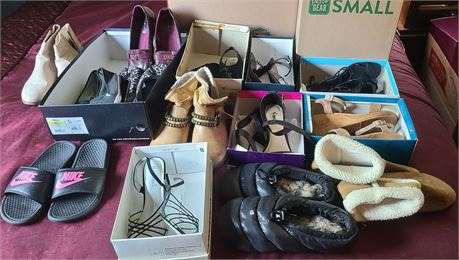 Ladies Shoes (SUMMER/WINTER MIX) 14 PAIRS SIZE 7-8