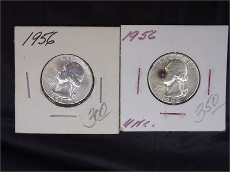 Pair of 1956 Silver Quarters