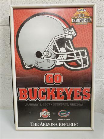 Buckeyes 2007 Championship Memorabilia in Frame