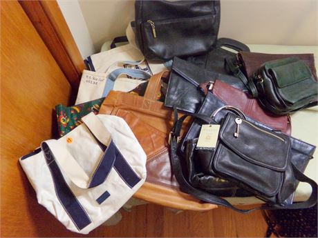 Large Collection of Handbags and Purses including Fossil with Tags
