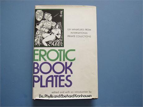 Erotic Book Plates. Vintage Hardback w/DJ