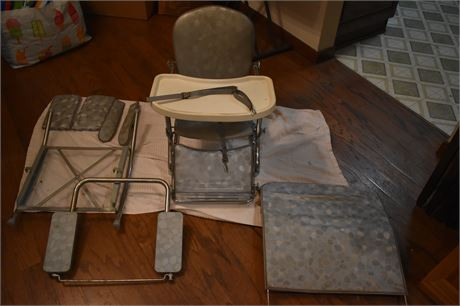 Vintage 1950's Stroll-O-Chair Convertible Baby System