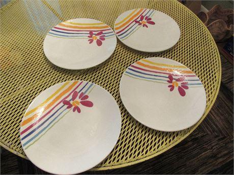 4 Pfalzgraff Plates  Flourish Pattern