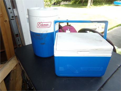 Coleman Cooler and Thermos