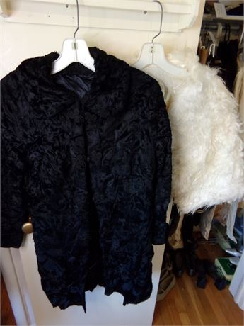 Vintage Fur Jacket and Shawl