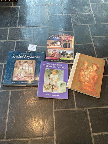 Art Books, Including Edna Hibel Lithographs Book