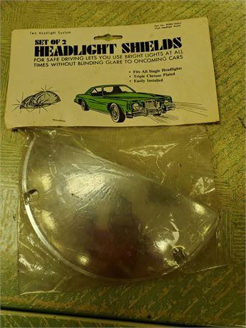 Vintage Auto Gard Headlight Shields NIP