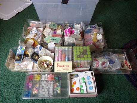 Tote of bead jewelry supplies