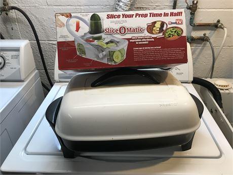 Presto Electric Skillet and Slice Omatic