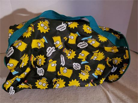 Vintage The Simpsons Small Duffle Bag 1990