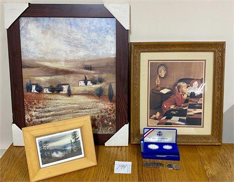 Framed and Signed Art - Rosemary Abrahams, Robert A. Trino, & More - See Photos