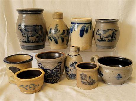 Salt Glaze Pottery Rowe, Stebner, Others