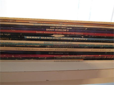 Barry Manilow Record Lot