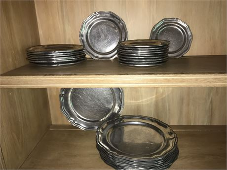 Wilton Armatale Plates - 8 large, 8 medium, and 10 small