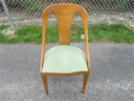 Vintage Rare Mid Century Modern Wood Desk Leg Side Chair