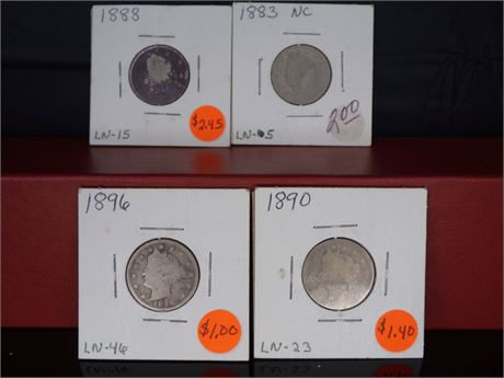 late 1800's Liberty Nickels