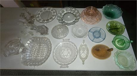 Colored & Clear Glass Lot