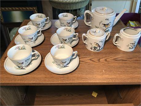 Spode Bird Tea Set