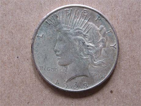 1923 Silver Peace Dollar Dollar Liberty Head
