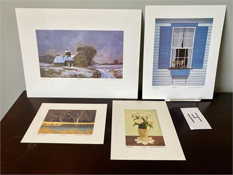 Signed and Numbered Lithographs by Gerald H. Lubeck - Lot #1