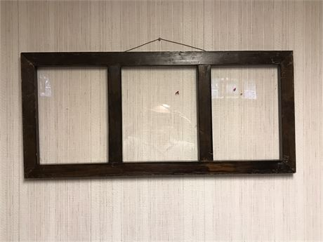 Antique Window Frame with Plexiglass