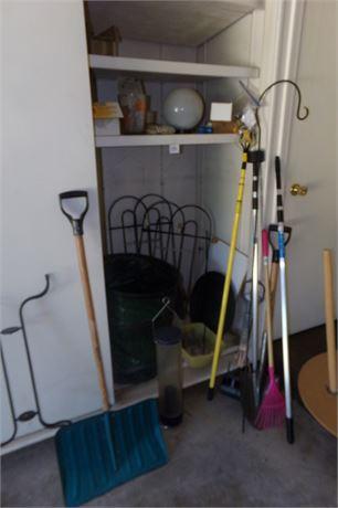 Garage cleanout corner