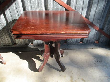 Antique 1880's Hand Crafted Rectangular Mahogany Table