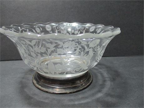 Vintage Siver Base Small 4 1/2' Fancy Candy Dish