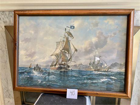Nantucket Whaler Atlas in Southern Cross by Roy Cross