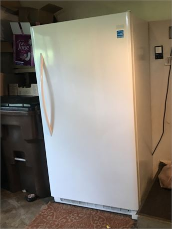 Frigidaire Energy Star Stand Up Freezer -Good Working Condition-Contents not inc