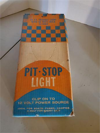 Vintage Pit-Stop Clip On Trouble Light NIB