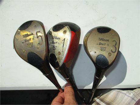 Vintage Wilson Staff II  1 - 3 - 5 Persimmon Golf Woods